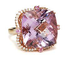 Lilac Fireworks - Amethyst Diamond Ring