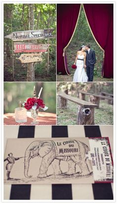 Old-World Circus Themed Wedding