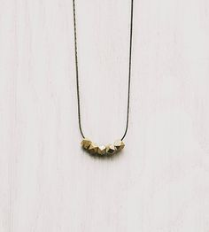 $22 Brass Beaded Necklace | Jewelry Necklaces | Byrdie | Scoutmob Shoppe | Product Detail