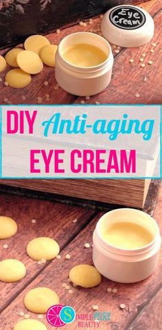 DIY natural anti-aging eye cream is simple to make and may help fine lines and wrinkles on delicate skin. Five simple ingredients come together in no time. best eye cream, eye cream for wrinkles, homemade eye cream, anti aging eye cream, moisturizing eye #homemadewrinklecreamssheabutter