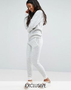 Buy it now. Micha Lounge Knit Jogging Bottom With Contrast - Multi. Joggers by Micha Lounge, Soft-touch fluffy knit, Contrast waistband, Side pockets, Fitted cuffs, Skinny fit - cut closely to the body, Machine wash, 66% Acrylic, 32% Nylon, 2% Elastane, Our model wears a UK 8/EU 36/US 4 and is 175cm/5'9 tall, Exclusive to ASOS. ABOUT MICHA LOUNGE Comfort and style? That�s no sweat with loungewear-loving label Micha Lounge. Layer up on its knitted cardigans, joggers and boucle hoodies for…