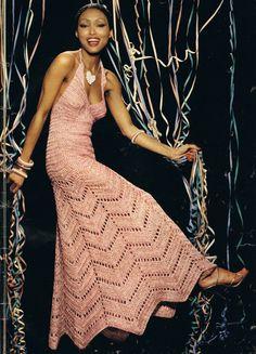 Crochet DRESS Pattern Vintage Crochet Wedding Dress Pattern MAXI Chevron Pattern Crochet Wedding Gown Evening Dress Pattern - Vintage Crochet Pattern ♥ Snowfall Evening Skirt and Shell ♥´¨) ¸. Crochet Evening Dresses, Vintage Crochet Dresses, Evening Dress Long, Evening Dress Patterns, Crochet Wedding Dresses, Maxi Dress Wedding, Dress Vintage, Wedding Gowns, Bridal Gown