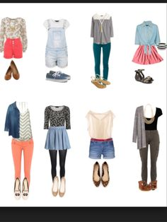 Many outfits...cute outfits, but mostly for spring. outfit 3, 6, and 8 could be pulled off as winter outfits though.