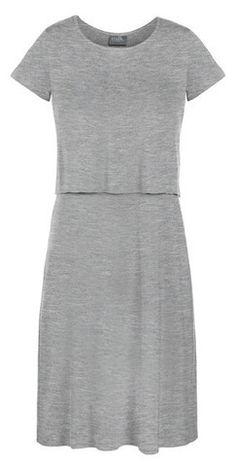 T-shirt Nursing Lounge Dress {Heathered Grey}