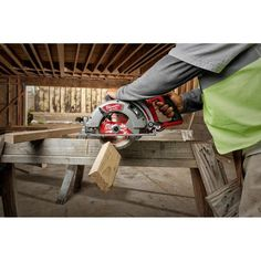 Milwaukee M18 FUEL 18-Volt 7-1/4 in. Lithium-Ion Cordless Rear Handle Circular Saw Kit with 12.0 Ah Battery and Rapid Charger-2830-21HD - The Home Depot Led Work Light, Work Lights, Cordless Circular Saw, Milwaukee M18, Cordless Tools, Electronic Recycling, Battery Sizes, Recycling Programs, The 4