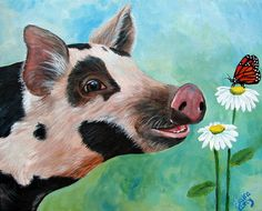 A Friend For Pippy Painting  - Laura Carey