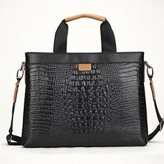 Fine Quality Men Women Genuine Leather Laptop Breifcase Shoulder Bag