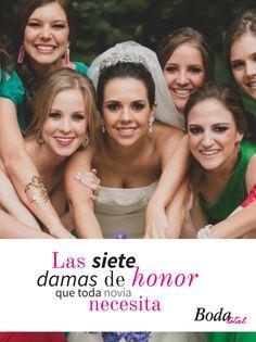 Da click y descubre las 7 damas de honor que toda novia necesita #BodaTotalTips #Novia #vestidosdenovia
