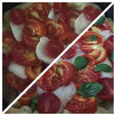 Living in Sin: Meatless Monday - Roasted Tomato Caprese Tart