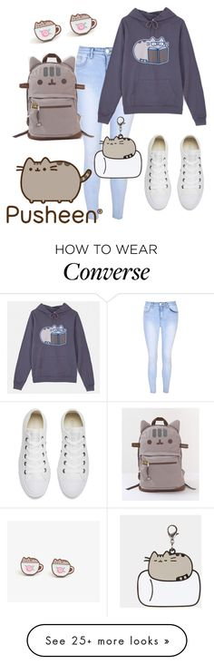 """pusheen"" by lovedreamfashion on Polyvore featuring Glamorous, Pusheen, Converse, contestentry and PVxPusheen"