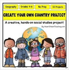 Create Your Own Country : Create Your Own Country : Create a Country Project :A BEST SELLER! Perfect for Intermediate Grades 3-6! Newly updated and improved with informational articles, vocabulary words with posters, and engaging student activities related to all the different themes such as culture, flag facts, climates, housing, natural resources, agriculture, transportation (and more) of this creative hands-on project!