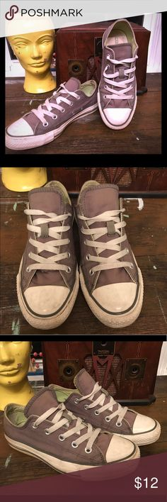 Grey Converse All Star Classic Chucks Good ole', worn in Chuck Taylors. Please see photos for condition. Converse Shoes Sneakers