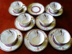 Antique Theodore Haviland Limoges China NABOB Cup & Saucer Sets ~ 6 Available #ThodoreHavilandLimogesFrance