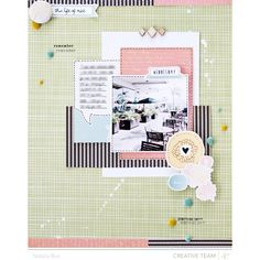 Love the look of this layout!   studio calico sundrifter this life