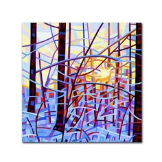 This ready to hang, gallery-wrapped art piece features an abstract painting of a…