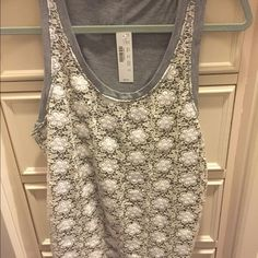 Jcrew gray lace comfy dress tank Gray lace comfy dress tank. Never worn. Tags on. J. Crew Tops Tank Tops