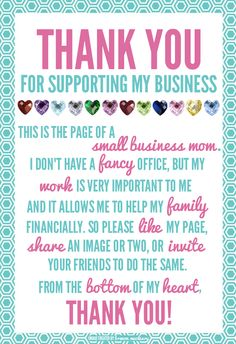 Thank you to everyone who supports me in my business! I love you all! <3