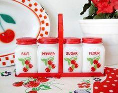 Vintage cherry kitchenalia -  LOVE IT.