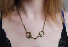 EquestrianInspired Chunky Horse Bit by pumpkinseedjewelry on Etsy, $42.00