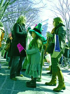 St. Patricks Day celebrations in Omotesardo, Tokyo, - yes, there's a little Irish in all of us & you can never wear too much green!