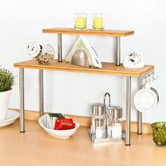Bremermann® Bamboo and Stainless Steel Kitchen Shelf Corner Shelf with  Hooks  Amazon.de  Küche   Haushalt. Eren Rod · COCINA · Especiero de esquina  Estantes ... e704dfb7078f