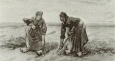 Two Women Talking to Each Other While Digging by @artistvangogh #realism