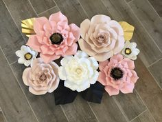 Your place to buy and sell all things handmade How To Make Paper Flowers, Large Paper Flowers, Different Flowers, Different Colors, Color Pallets, Flower Making, A Table, Color Combinations, All Things
