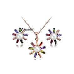 Flower Pendant Necklaces and Stud Earrings from Pandahall Flagship Store on Aliexpress.com