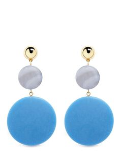 The Arlo Gold-Plated Lapis and Shedua Wood Earrings Sophie Monet CHBUMK