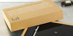 litl 'internet laptop' - the simplicity of the type and colors is beautiful (however, there is a lot of hype to this packaging system that seems to be unfounded - this simple box also being able to be the shipping box? and protect that laptop? doubt it!)