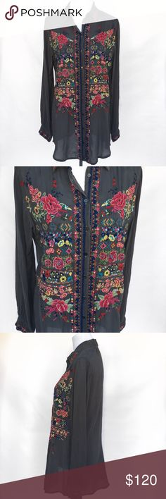 Johnny Was Embroidered Top - Small Retail: $260 EUC gorgeous Embroidered top from Johnny Was. Size small. Johnny Was Tops Blouses