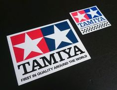 2x new genuine #tamiya logo #stickers / decals for pit box etc, #110mm/89mm, retr,  View more on the LINK: 	http://www.zeppy.io/product/gb/2/361632118052/