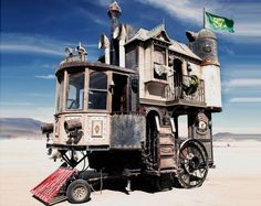 Shannon O'Hare's Recycled Material Mobile Victorian House Sets Sail for Desert Lands | Inhabitat
