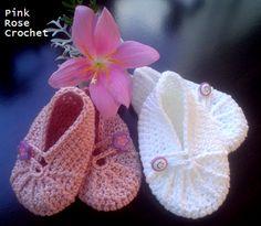 Sapatinhos de Crochê Rosa Antigo