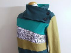 CITY GARDEN  Hoodie Sweatshirt Sweater  Recycled by MungoCrafts, $77.00 I want one.