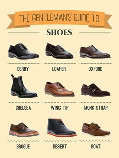 Guide to men's shoes. I'm only missing Chelsea.