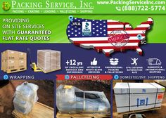 Shipping? Packing Service, Inc. is a professional #Shipping & #Moving company that's been in the industry for over 13 years. Our team will #Pack, #Shrink #Wrap #Palletize & #Ship your valuables for a Flat Rate! Call (888) 722-5774 or Visit www.PackingServiceInc.com