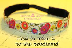 Kristina Grum: Tutorial: How to make a no-slip headband