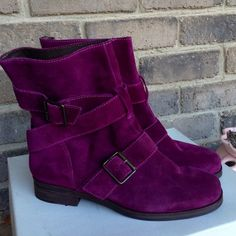 Pour la victoire purple boots Reduced from $150!!  Brand new! Absolutely fabulous boots! No Trades Pour la Victoire Shoes