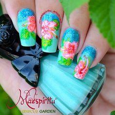 tropical by maespiritu_artofnail    #nail #nails #nailart