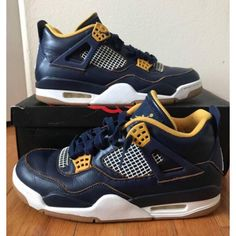 size 40 1cdbf 5d79c Jordan Shoes   Jordan Iv 4 Retro Dunk From Above Navyyellow 9.5   Color   Blue