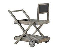 Carro macetero de madera II – gris