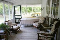 Marjorie Kinnan Rawlings House-- Front Porch with Bed