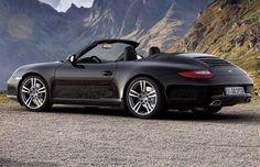 Black Porsche 911 cabrio