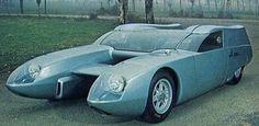 Osi Bisiluro Silver Fox, 1967 The Catamaran Car Strange Cars, Weird Cars, Cool Cars, Ferrari Daytona, Ferrari 328, Peugeot 204, Automobile, Transporter, Futuristic Cars