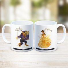 Beauty and the Beast Wedding Custom Name Mug,Disney Princess Belle Watercolour Art mug,Wedding Gift,Anniversary Bridal Shower,Gift Idea,ET27 by artRuss on Etsy https://www.etsy.com/listing/261422089/beauty-and-the-beast-wedding-custom-name