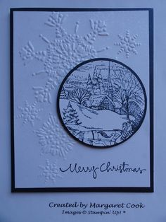 Sleigh Ride and Christmas Greetings; Northern Flurry Embossing Folder