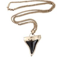 GIVENCHY Double Chain Shark Tooth Necklace (€710) ❤ liked on Polyvore featuring jewelry, necklaces, accessories, fillers, gold necklace, short chain necklace, gold chain necklace, gold shark tooth necklace and curb chain necklace