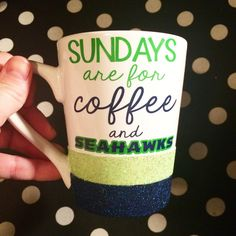 Hey, I found this really awesome Etsy listing at https://www.etsy.com/listing/216790227/glitter-dipped-seahawks-inspired-coffee
