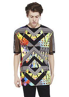optical colour print net t-shirt  - I love this!!!